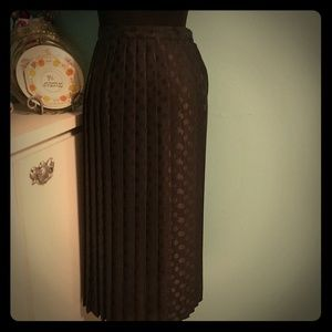 Rockabilly Vintage Polyester Pleated Skirt 10